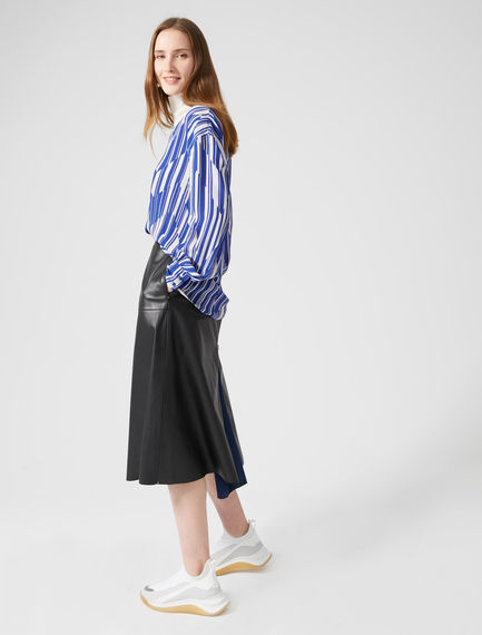 Gonna midi zip-kick in nappa Sportmax