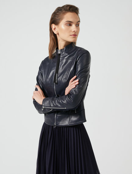Athletic Leather Jacket Sportmax