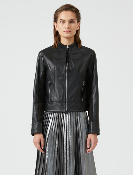 Athletic Leather Jacket
