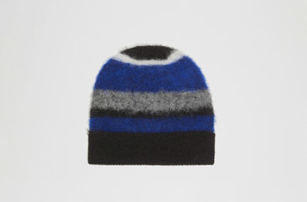Block Stripe Beanie Hat