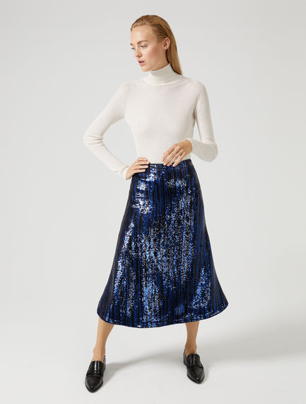 Embellished Sequin Mermaid Skirt