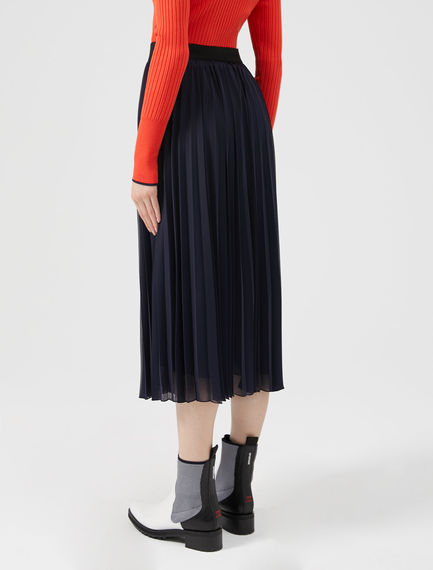Sunray Pleat Midi Skirt