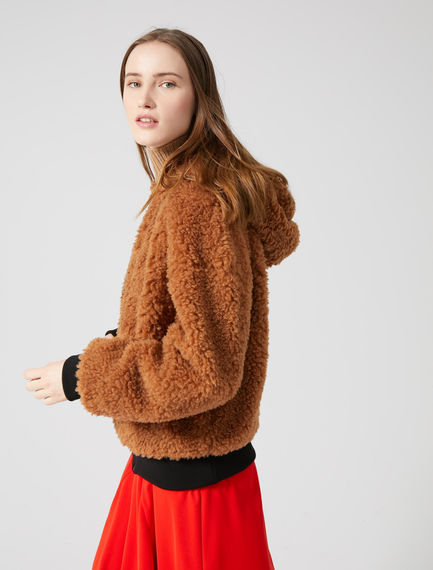 Teddy Fur Reversible Bomber Jacket Sportmax