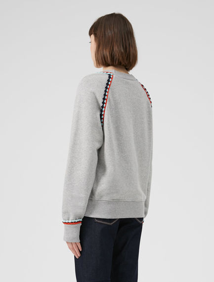 Crochet-Trimmed Marle Sweatshirt