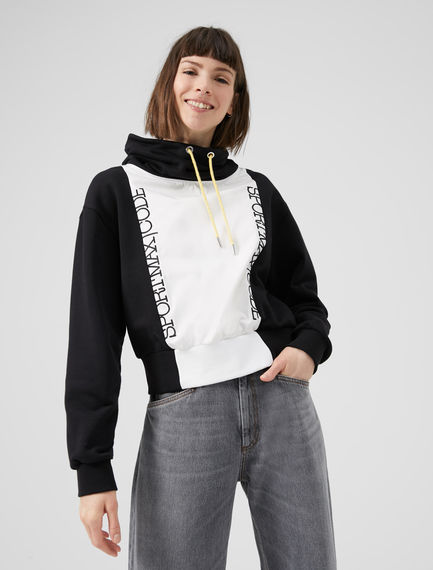 Monochrome Hooded Sportmax Code Sweatshirt