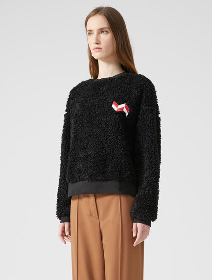 Teddy-Style Appliqué Sweatshirt
