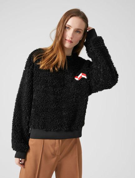 Teddy-Style Appliqué Sweatshirt Sportmax