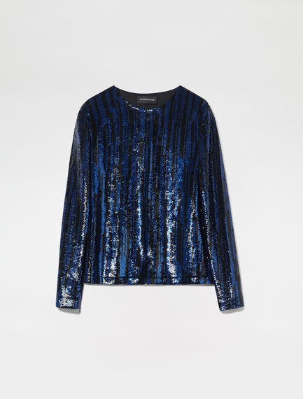 Streaked Sequin T-shirt