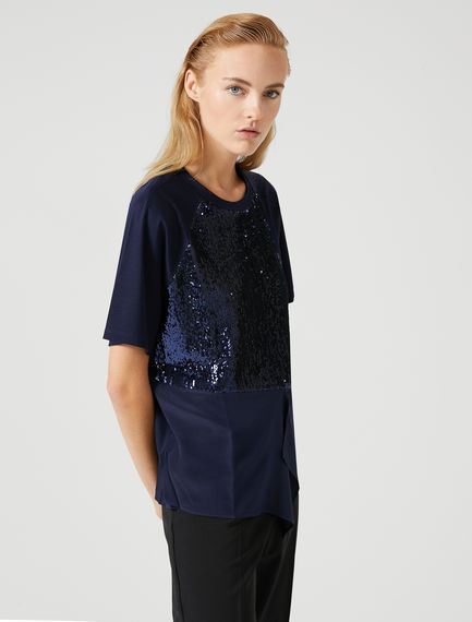 Cotton-crêpe Sequin T-shirt Sportmax