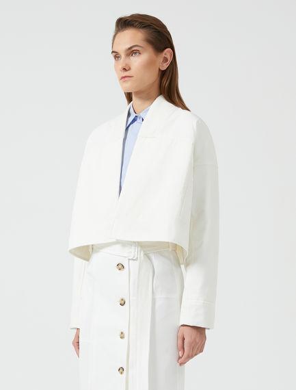 Cropped Kimono-Bomber Jacket