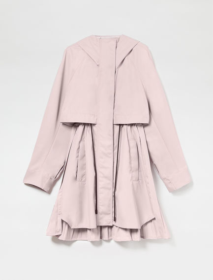 Pleated Technical Parka Coat