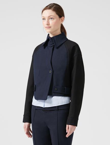 Asymmetric Cut Box Jacket