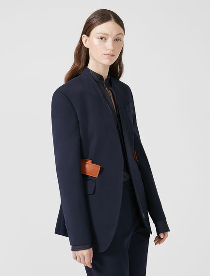 Sleek Regimental Jacket Sportmax