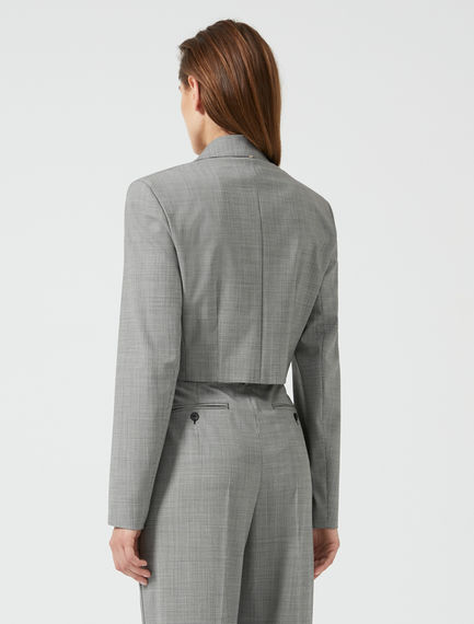 Structured Crop Wool Blazer Sportmax