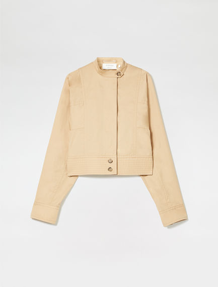 Cotton Canvas Biker Jacket
