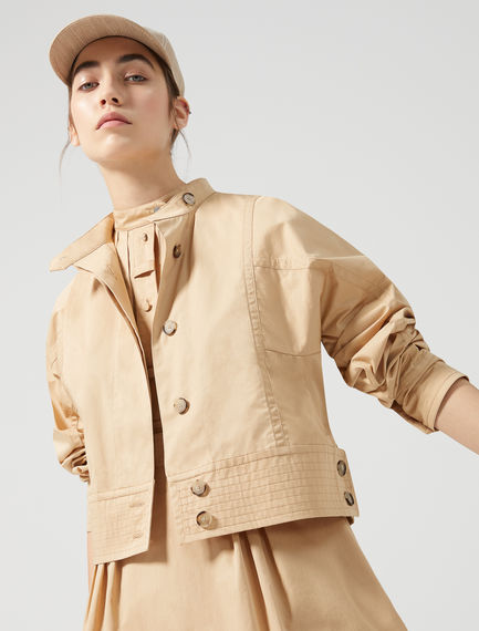 Cotton Canvas Biker Jacket Sportmax
