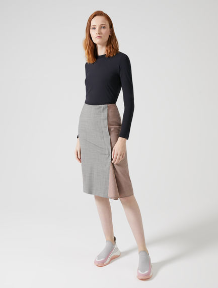Gonna tubino in lana pied de poule Sportmax