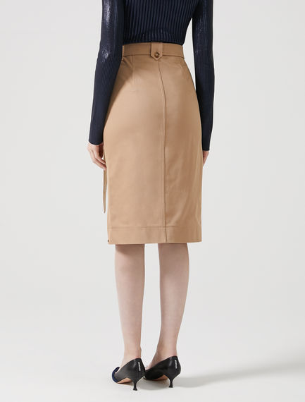 Streamlined Technical Pencil Skirt