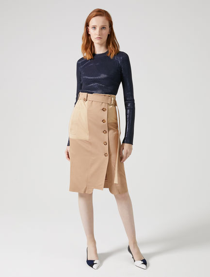 Streamlined Technical Pencil Skirt Sportmax