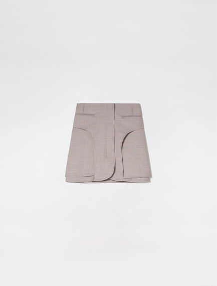 Tailored Gabardine Mini Skirt