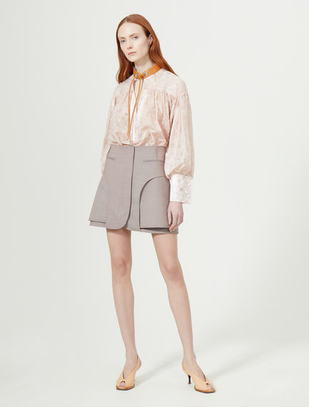 Mini gonna sartoriale in gabardina Sportmax