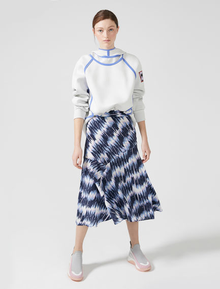 Oscillating Brushstroke Silk Skirt Sportmax