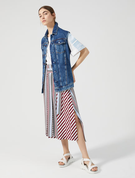 Multi Stripe Wrap Skirt Sportmax