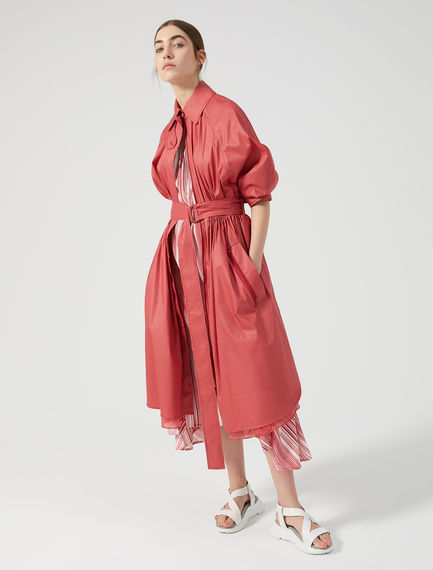 Trench in popeline e organza