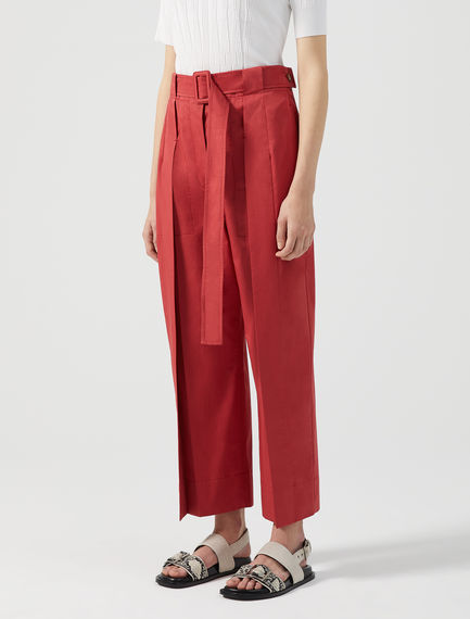 Wrap-effect Cropped Trousers