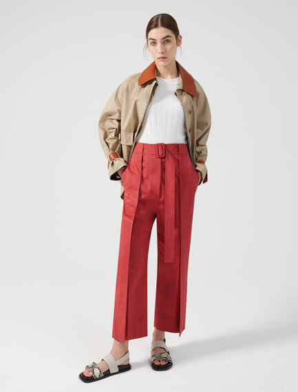 Wrap-effect Cropped Trousers Sportmax
