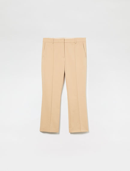 Ankle Crop Cotton Trousers