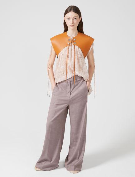 Semi-flare Wool Trousers