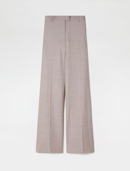 Semi-flare Wool Trousers