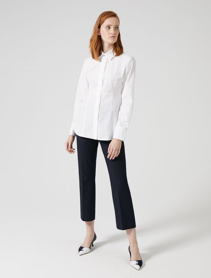 Cropped Crease Trousers