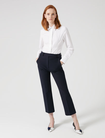 Cropped Crease Trousers Sportmax