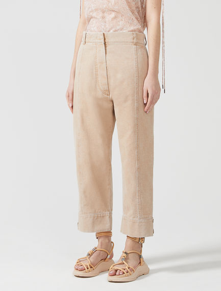 Button Ankle Chinos