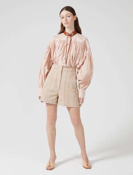 Laminated Pleat Shorts Sportmax
