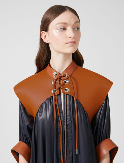 Laced Faux Leather Shrug