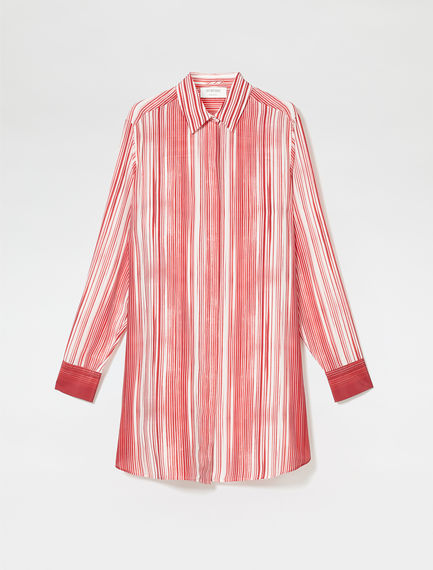 Blurred Stripe Tunic Shirt