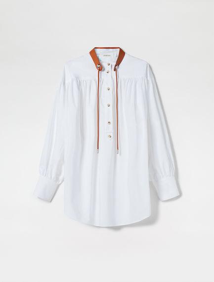 Gathered Poplin Shirt
