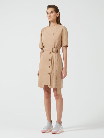 Trench-Inspired Cotton Shirtdress