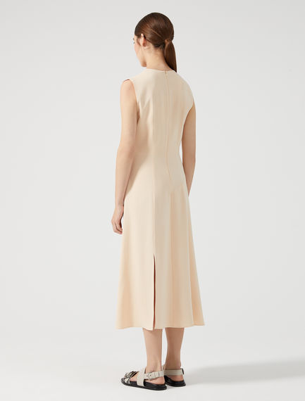 Streamlined Drape Midi Dress