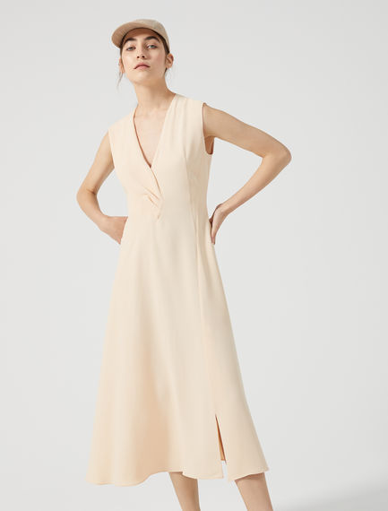 Streamlined Drape Midi Dress Sportmax