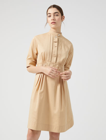 Pleat-front Cotton Shirtdress Sportmax