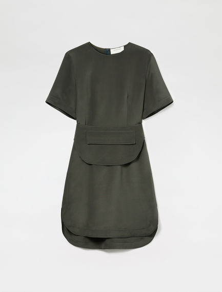 Belt Bag Silk T-Shirt Dress