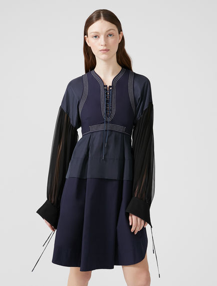 Panelled Habotai Silk Dress Sportmax