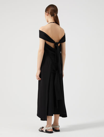 Halter-neck Tie-back Dress