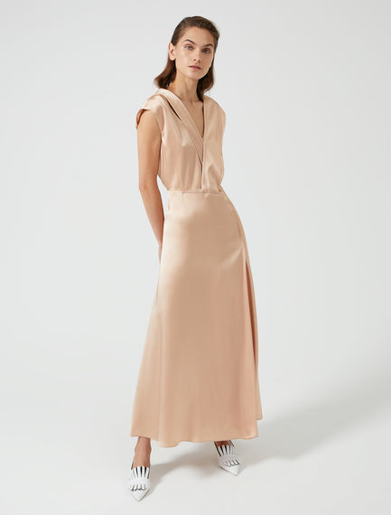 Champagne Satin Dress Sportmax