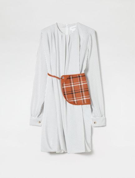 Transforming Pinstripe Silk Dress