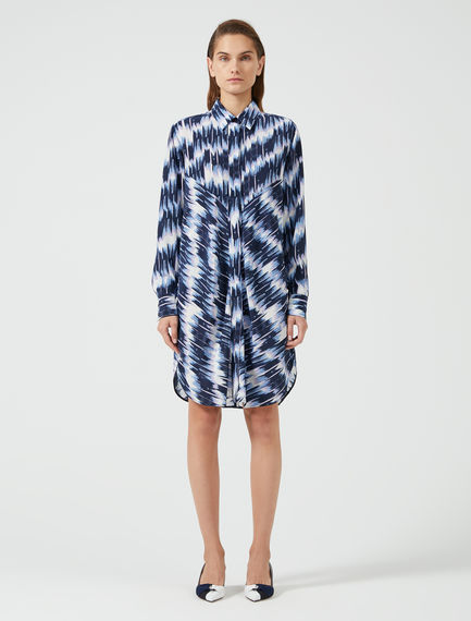 Brushstroke Crepe Shirtdress Sportmax